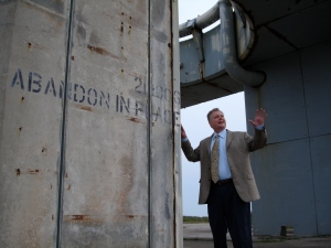 Dave at Launch Complex 34 - site of the Apollo 1 Fire
